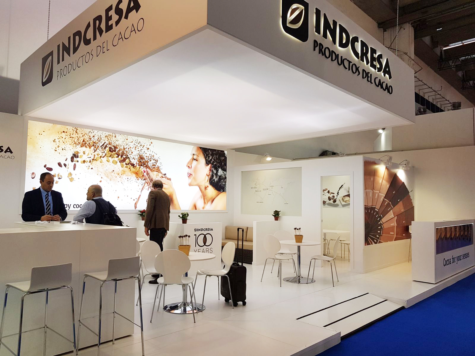 Exhibition Stand Europe : Indcresa participated in the food ingredients europe exhibition